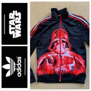 VHTF Adidas STAR WARS  Darth Vadar zip jacket
